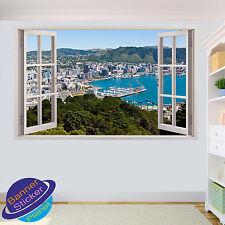 NEW ZEALAND WELLINGTON 3D WINDOW WALL STICKER ROOM DECORATION DECAL MURAL ZF6