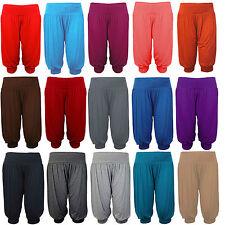 3/4 Sarouel Baggy Shorts Femmes Plain Cropped ALI BABA Femmes Pantalon Pantalon 8-26