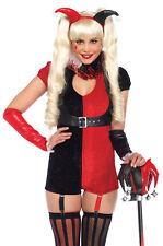 Jester Mischief Maker Adult Women's Costume Black & Red Fancy Dress Leg Avenue