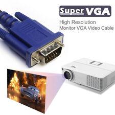VGA Monitor SVGA/VGA Monitor Cable 6FT with Ferrite Cores 100% Bare Copper lot