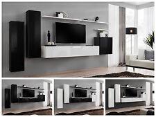 salón modular de PARED Estantería Interruptor I Alto Brillo Pvc Push Click NUEVO