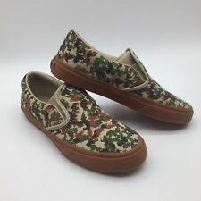 "Vans Men/Women's Shoes ""Classic Slip-On"" -- (Sketch Camo) Safari"
