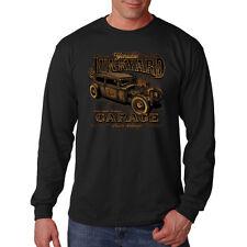 Junkyard Garage Rust Never Sleeps Hot Rat Rod Car Auto Long Sleeve T-Shirt Tee
