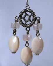 Stephen Dweck Silver CARTWHEEL ROSE Quartz PINK MOP Earrings Women Lady Gift NEW
