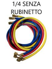 """FRUSTA TUBO FLESSIBILE 1/4"""" SAE PER GAS REFRIGERANTE R407C R134A R410A R22"""