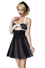 Femmes minirobe noire à pois blancs jupe robe originale modèle uy 50027