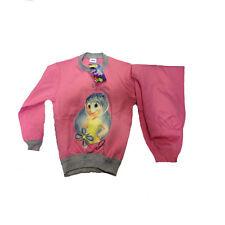 INSIDE OUT pigiama maglia+pantalone lungo rosa e grigio cotone taglia 3/4 anni