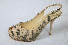 "Giuseppe Zanotti Shoes Hidden Platform Heels slingbacks 4.5"" heel bone snake"