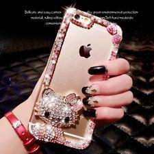 Luxury DIY 3D Diamond Bling Glitter Rhinestone Clear TPU Bumper Phone Case Cover