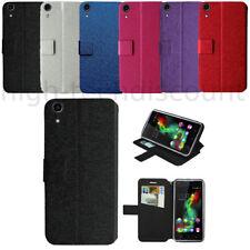 Housse etui coque pochette portefeuille pour Wiko Rainbow Lite 4G + film ecran