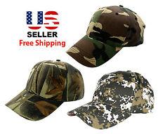 Men Women Camouflage Baseball Golf Fishing Hunting Cap Hat Curved Visor