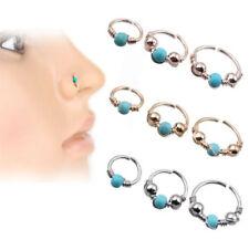 Nose Ring Stud Eyebrow Cartilage Tragus Septum Helix Lip Ear Cuff Hoop Piercing