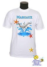 tee shirt enfant dauphin personnalisable avec prénom réf 165