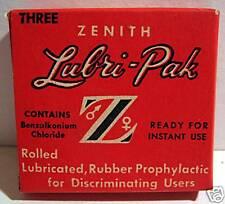 Old Stock Full Unused Lubri Pak Condom Philadelphia Pa