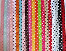 "50 yards Spool Dippy Polka Dots Grosgrain 7/8"" Ribbon/Wholesale Price R43-Roll"