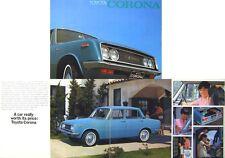 Toyota Corona 1500 Saloon 1968-1970 Original UK Sales Brochure