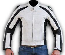 chaqueta motorista de para moto en cuero con protecciones aprobado CE c.e. raza