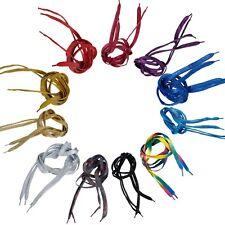 2 Streifen geflochtene glitzernde Schnürsenkel, Länge 108cm, versch Farben Sport