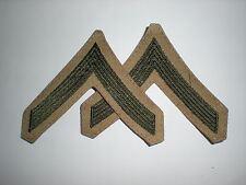 USMC PRIVATE RANK GREEN/KHAKI -1 PAIR
