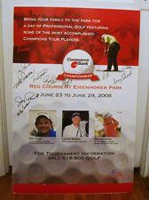 11x AUTOGRAPHS Eisenhower Park PGA TOUR GOLF Pro Signatures LOT CHAMPIONS Club