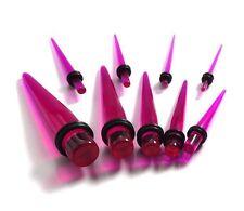 Piercings à l'unité ECARTEUR expander ACRYLIQUE VIOLET transparent 1,6mm à 10mm