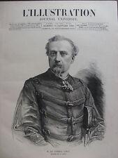 L'ILLUSTRATION 1885 N 2185 LE GENERAL JULES LOUIS LEWAL