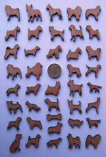 MDF Wooden Laser 25mm Cut Out Dog Shapes, craft making, decoration, embellish