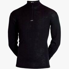 100% Merino wool. JBS Olympia men zipneck Shirt  Base Layer (Oly3)