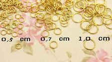 Anelli anellini congiunzione colore ORO tre misure a scelta in metallo