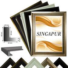 Schattenfugenrahmen SINGAPUR für Leinwand,- Keilrahmenbilder in 5 Farben