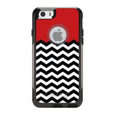 OtterBox Commuter for iPhone 5S SE 6 6S 7 Plus Black White Red Chevron