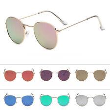 Retro Womens Mens Round Metal Frame Sunglasses Glasses Vintage Shades Eyewear uj