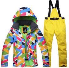 Girl Women Ski Snow Snowboard Jacket Bib Pants Winter Warm Waterproof Snow Coats