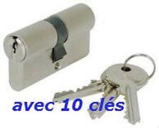 CYLINDRE SERRURE EUROPEEN 40/40 AVEC 10 CLES