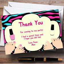 Pédicure Ongle Peinture Personnalisé Fête D'Anniversaire cartes remerciement