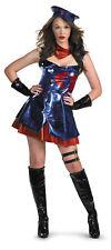 GI Joe Cobra Deluxe Adult Sexy Women Costume Shiny Blue Dress Halloween Disguise
