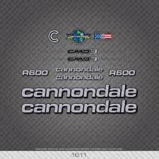 Cannondale R600 Bicyclette Autocollants-Decals-Transferts-Six Options De Couleur