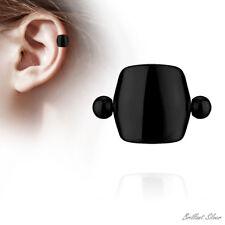 Ohrpiercing Helix Cartilage Tragus Ohr Piercing Schild Schwarz Ear Cuff