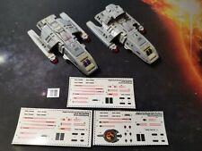 DS9 RUNABOUT CUSTOM WATERSLIDE DECALS USS ORINOCO Star Trek EAGLEMOSS - NO MODEL