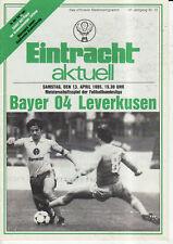 BL 84/85  Eintracht Braunschweig - Bayer 04 Leverkusen