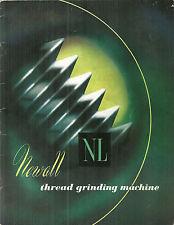 Newall Thread Grinding Machine Sales Brochure Catalog