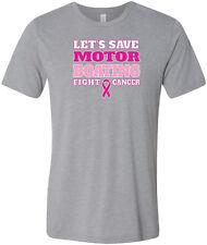 Breast Cancer T-shirt Motorboating Tri Blend Tee