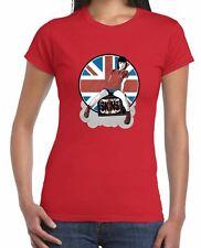 Skinhead Girl Union Jack Women's T-Shirt - Ska Oi Oi Skins Mod