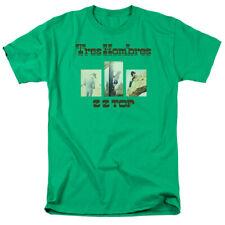 ZZ Top Tres Hombres Mens Adult T Shirt Kelly Green