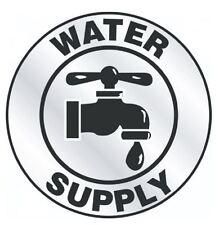 Water Supply Hard Hat Decal Hardhat Sticker Helmet Label H168