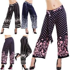 Pantaloni donna crop pants capri fantasia eleganti lacci palazzo sexy 32809-44