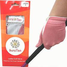Sure Tan Cabretta Leather Golf Glove 5 Sizes 4 Ladies Small Medium Large