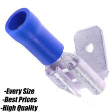 BLUE Piggyback Terminal Tab Connector 6.3mm Splice Crimp Electrical Wire Crimp