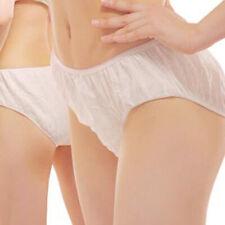 6/12 PCS Disposable non woven paper Brief Panties underwear Ladies Women New