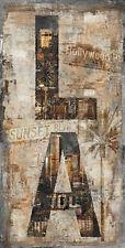 Luke Wilson: LA Vertical Keilrahmen-Bild Leinwand Los Angeles modern Collage